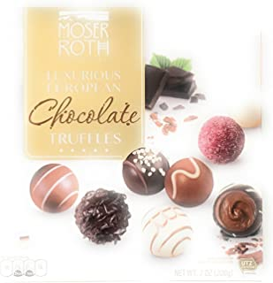 Moser Roth Luxurious European Chocolate Truffles Privat Chocolatiers 7 Oz Box