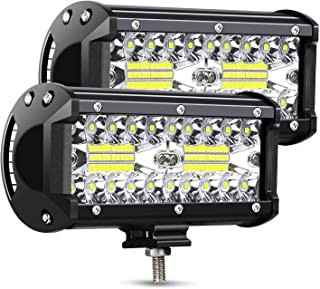 AMBOTHER LED Light Bar Off Road 7-Inch 240-Watt Spot Flood Combo Beam Waterproof Submersible Driving Fog Lights for Truck Trailer Pickup Boat Car, 2Pcs