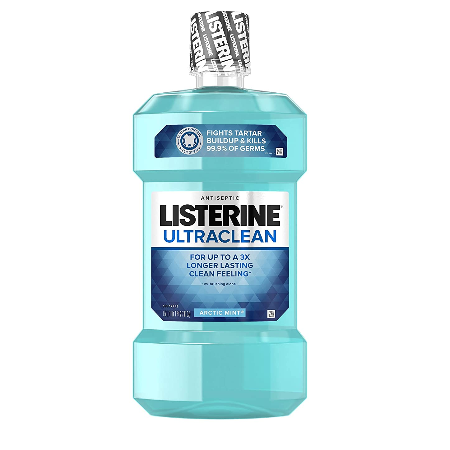 入札ダッシュ残り物Listerine UltraClean Mouthwash, Arctic Mint,1.5 Liters by Listerine
