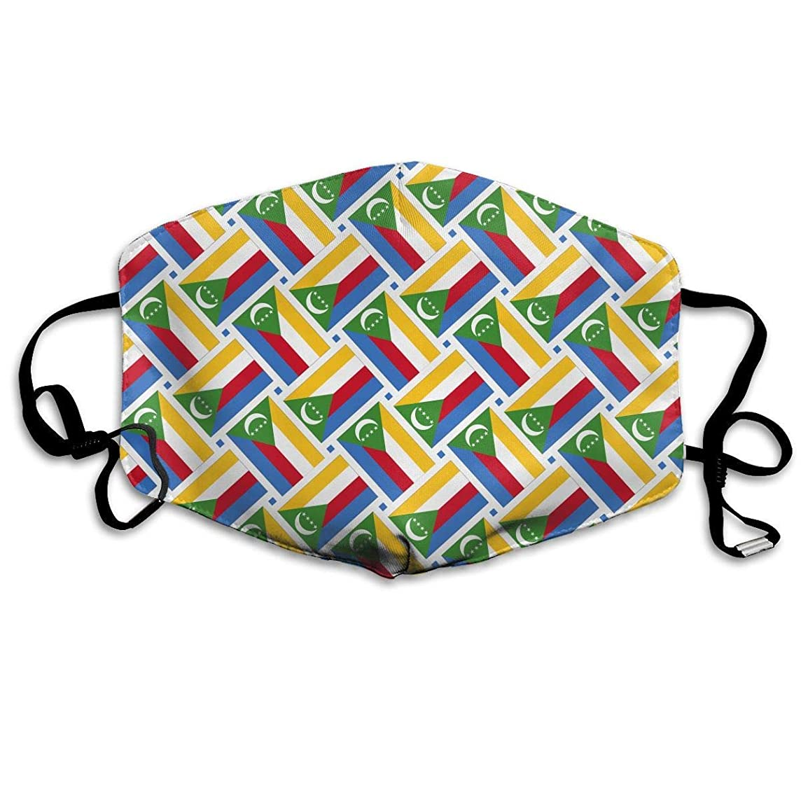 Comoros Flag Weave Mouth Mask,Dust,Face Mask Washed Reusable Activities Windproof 7 X 4.3 Inch.