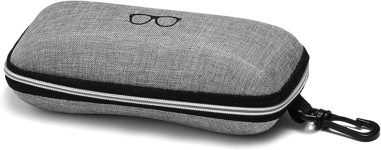 Sunglasses Case Louisville-Jefferson County Mall 3 Pack Portable Fort Worth Mall Zipper Eyeglasses Frame Travel