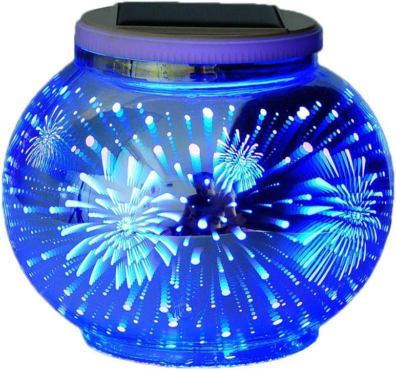 Color Changing Genuine Solar Powered Glass security Recha Ball Led Lights Garden