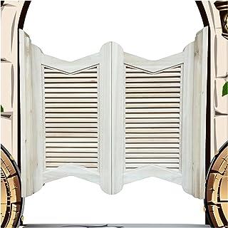 CAIJUN 木摇门, 沙龙 室内门 为了 咖啡店 俱乐部 厨房 入口, 田园风 划分, 包括铰链, 可定制 (Color : A, Size : 105x100cm)
