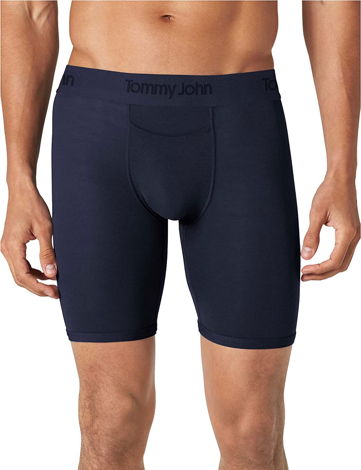 Tommy John Men's Underwear, Boxer Brief, Second Skin Fabric with 8