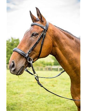 Cavallo Snaffle Briglia con redini rosso regolabile Cavallo Cavallo Cavallo Cavallo Cavallo Bit con Morbido Cuscino per Cavallo Blu//Piccolo