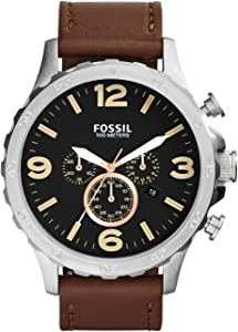 Fossil Nate Watch for Men - Analog Leather Band - JR1475