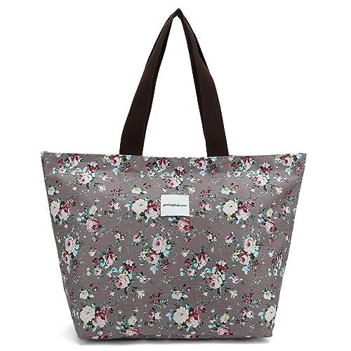 29c6c74e2aa Floral Tote Bag Shoulder Bag Gym Hiking Picnic Travel Beach bag for women  girl,Coin