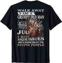 Mens I Am A Grumpy Old Man I was Born in July T-Shirt T-Shirt