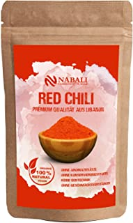 NABALI FAIRKOST FÜR ALLE Red Chili I Qualitätsware aus Libanon je 100 g I Chilli-Pulver 100% naturell aromatisch traditionell orientalisch I Chilli-Gewürz ohne Zusätze I vegan