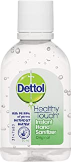 Dettol Healthy Touch Liquid Antibacterial Instant Hand Sanitiser Original, 50ml