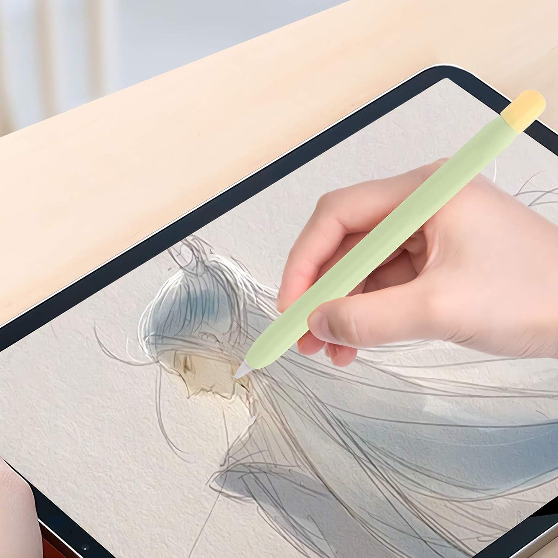 ibasenice Funda Protectora de Silicona para L/ápiz Funda Protectora para L/ápiz Compatible con Apple Pencil 2 Fundas para L/ápiz con Pantalla T/áctil