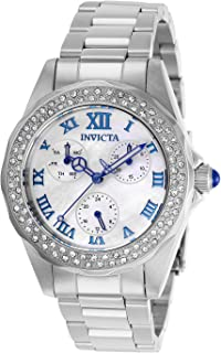 Women's Angel Quartz 3 Hand White Mother of Pearl Dial Watch