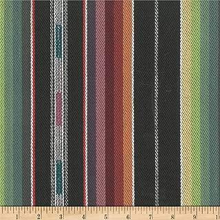 Laura & Kiran Southwest Zuni Stripe Fabric by The Yard, Black Multi