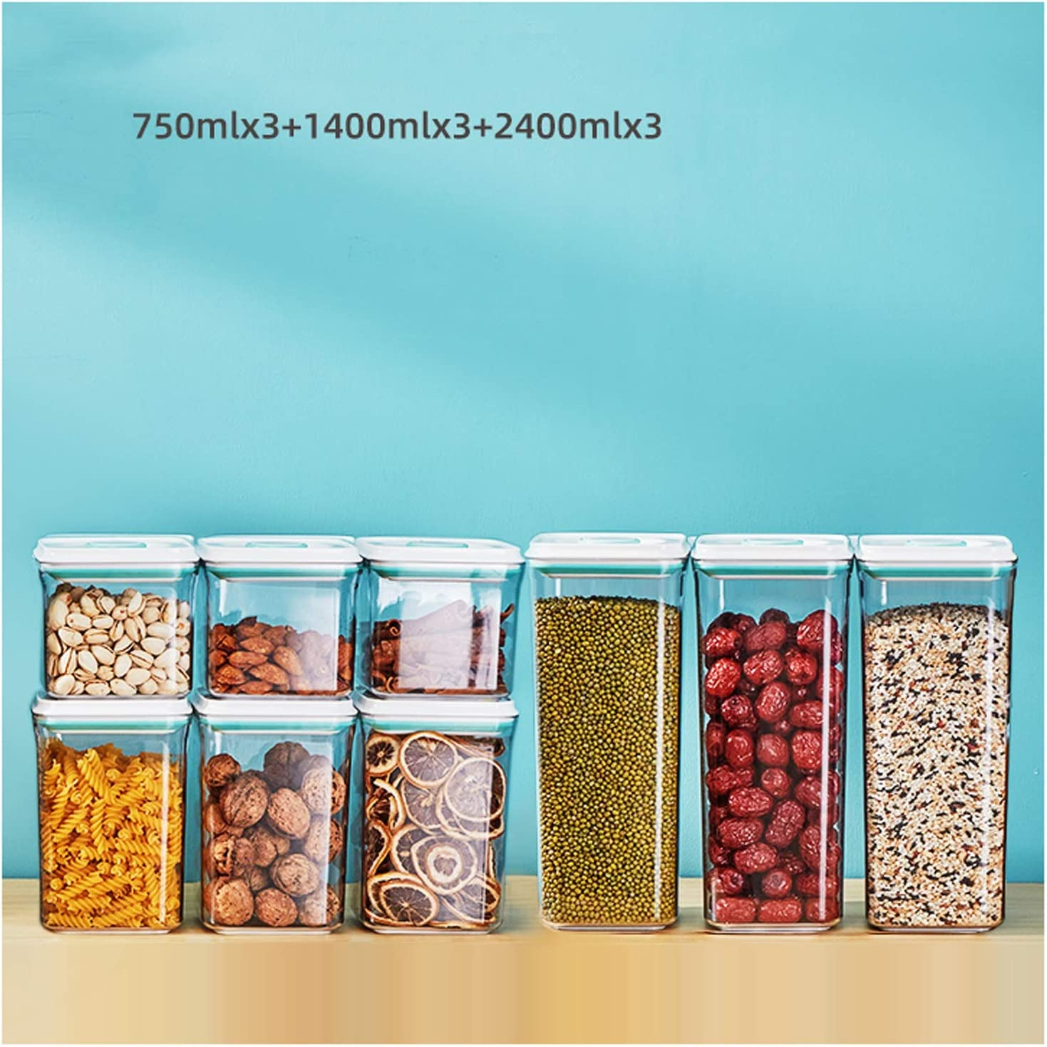NYKK Financial sales sale Kitchen Max 57% OFF Storage Containers Clear Home Jars Plastic
