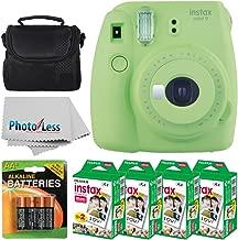 Fujifilm instax mini 9 Instant Film Camera (Lime Green) + Fujifilm Instax Mini Twin Pack Instant Film (80 Shots) + Camera Case + AA Batteries + Accessory Bundle