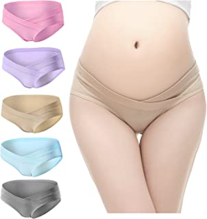ff5c63fac0450 PIDAY Women's Under The Bump Cotton Maternity Hipsters Panties Multi Pack