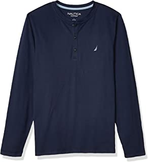 Nautica Men's Long Sleeve Henley Pajama Top