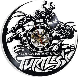 Splinter Art Clock Ninja Turtles Vinyl Record Wall Clock Teenage Mutant Ninja Turtles Room Decor Handmade Decoration Anniversary Gifts Turtles Art Clock
