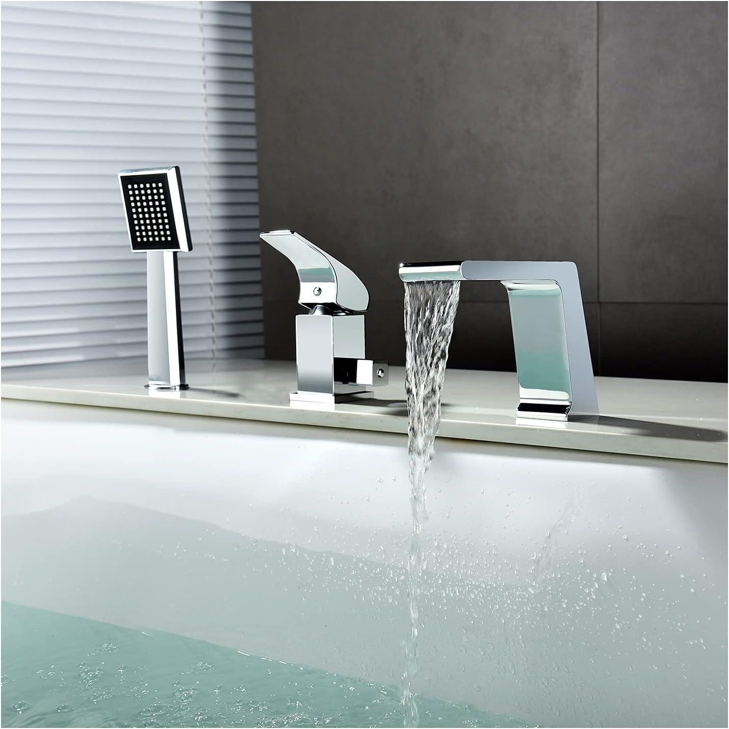 TANGAN Chrome Tub Faucets High Max 60% OFF Flow service Deck Bathtub Faucet Mounted