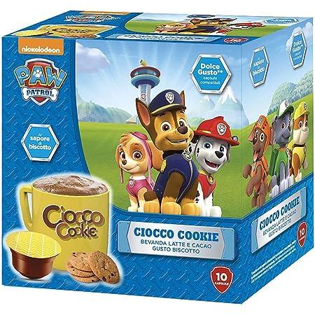 MUST 60 Capsules de Chocolat Soluble, 6 Paquets de 10 Capsules de Choco Cockie, Boisson au Lait Chaud et Cacao, Auto-Protégées Compatibles avec la Machine Nescafè Dolce Gusto, Made in Italy