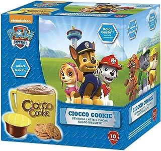 MUST 60 Capsules de Chocolat Soluble, 6 Paquets de 10 Capsules de Choco Cockie, Boisson au Lait Chaud et Cacao, Auto-Proté...