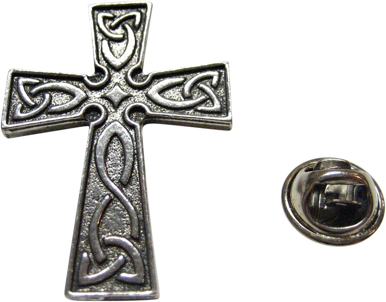 Celtic Design Large Cross Lapel Pin