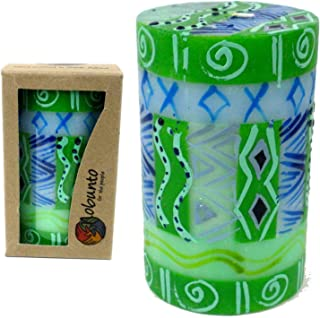 Global Crafts Single Boxed Hand-Painted Pillar Candle - Farih Design - Nobunto Candles