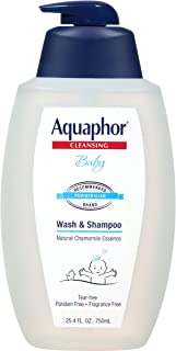 Aquaphor Baby Wash and Shampoo - Mild, Tear-free 2-in-1 Solution for Baby's Sensitive Skin - 24.2 fl. oz. Pump