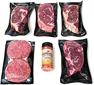 Aged Angus Ribeye & Premium Ground Beef Patties By Nebraska Star Beef - All Natural Hand Cut & Trimmed With Signature Seasoning - Gourmet Steak Gifts Delivered To Your Home