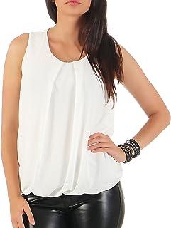 malito more than fashion Malito Damen Bluse ärmellos | Tunika mit Rundhals | leichtes Blusenshirt | Elegant - Shirt 6879