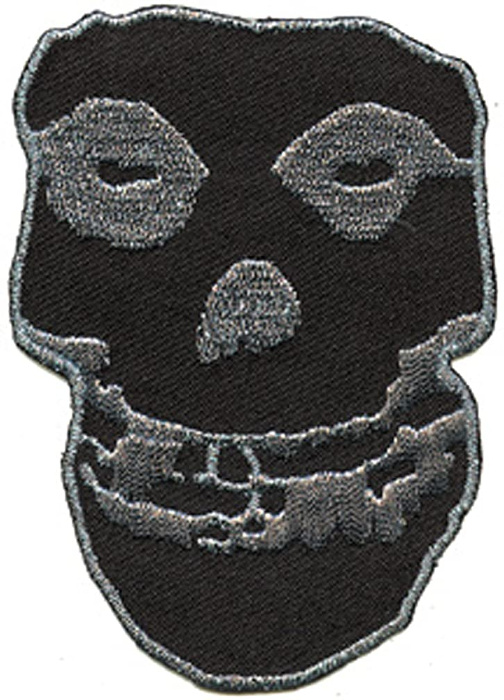 Application Misfits Silver Glitter SK Large Patch, 10
