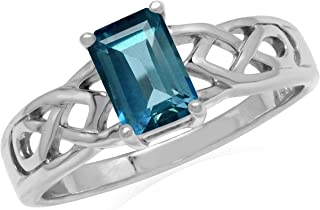 925 Silver Blue Topaz Ring s e1600 Sterling Silver and  9k yellow gold  blue topaz  Ring