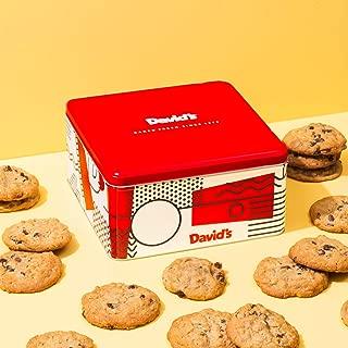 David's Cookies - 24 Fresh Baked Oatmeal Raisin Cookie Gourmet Gift Basket - Christmas, Holiday & Corporate Food Tin - Idea for Men & Women - Certified Kosher - 2lb