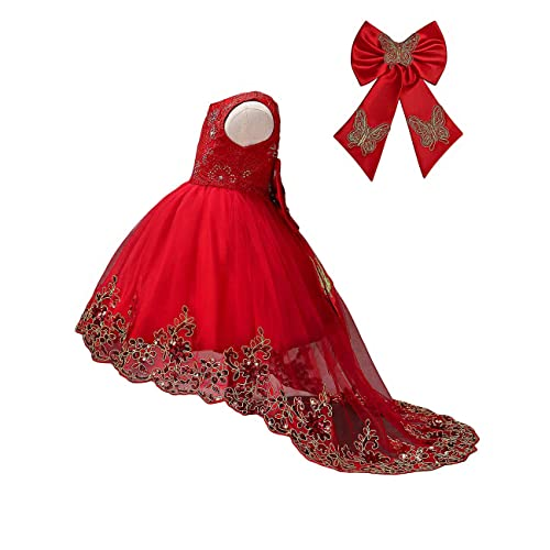 e7c86b42 21KIDS Sequin Lace Flower Elegant Wedding Party Princess Birthday Gown  Pageant Girl Long Sleeve Dress