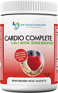Cardio Complete - Heart Health and Cardiovascular Support Powder Supplement - 3-in-1 Nitric Oxide Booster with 5,000 L-Arg...