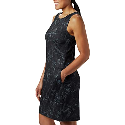 Columbia Chill Rivertm Printed Dress (Black Rubbed Texture) Women
