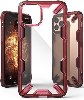كفر ايفون 11 برو ماكس , ماركة رينجكي , صلب من الخلف وإطار مرن متين , تصميم فيوجن إكس , احمر شفاف