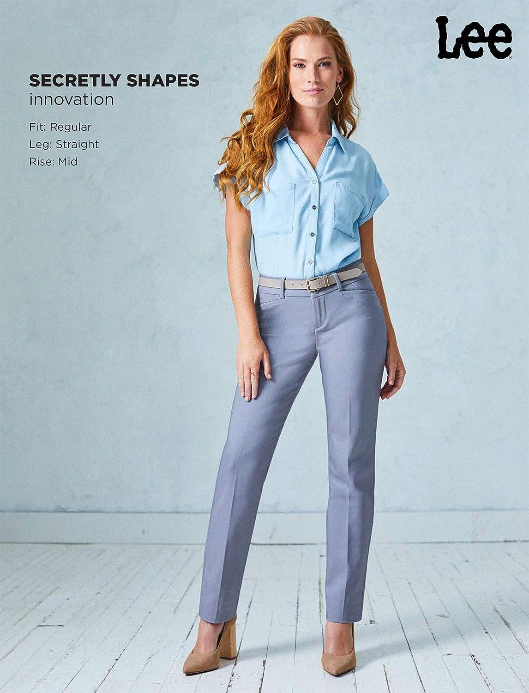 Lee Women's Secretly Shapes Regular Fit Straight Leg Pant