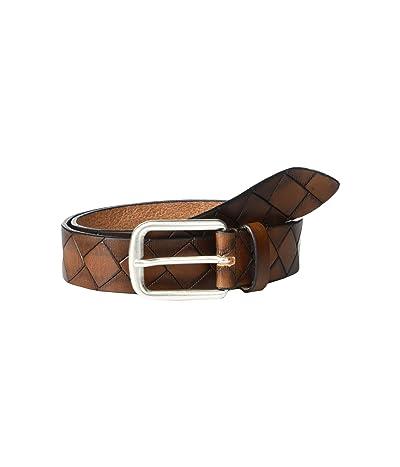 Johnston & Murphy Basketweave Belt (Tan Leather) Men