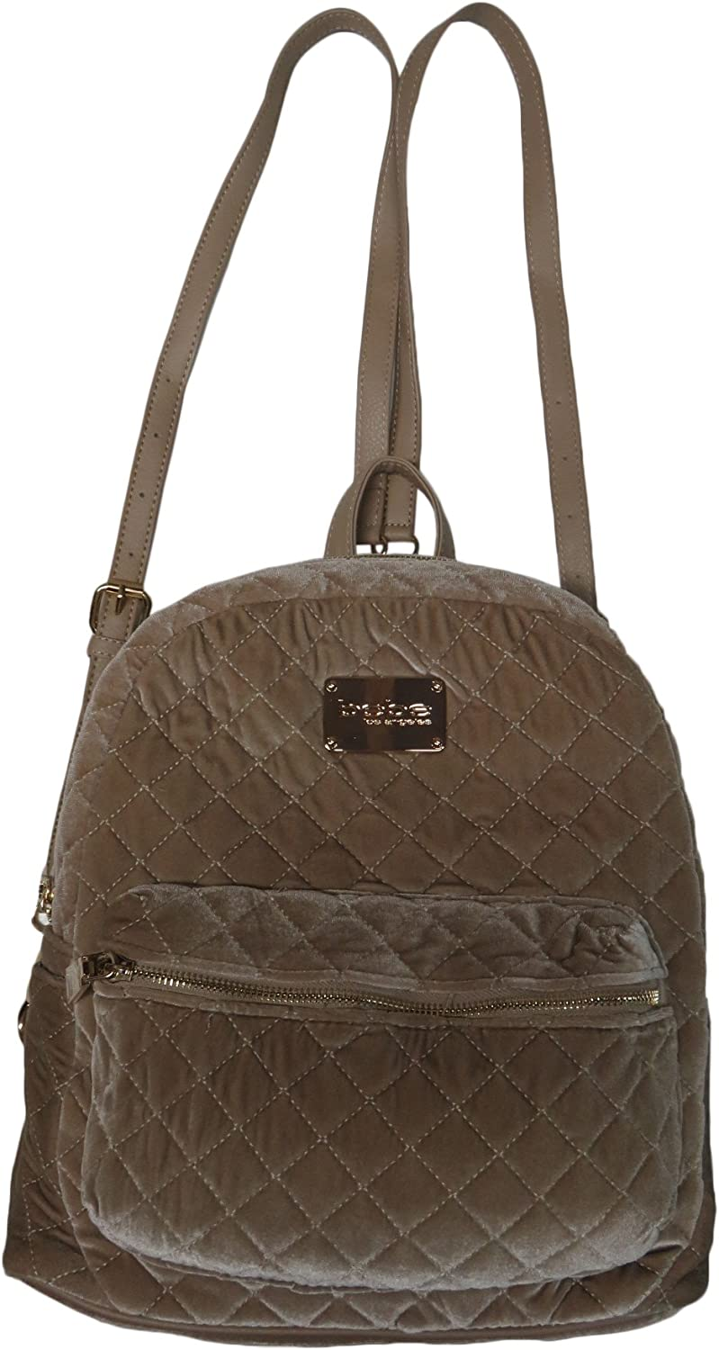 Bebe Maria Quilted Large Backpack Taupe