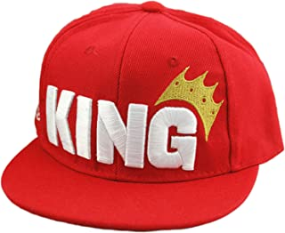 Infant & Toddler Hip Hop Snapback Flat Brim Hats Letter King Baseball Cap for Kids Girls Boys Sun Protection