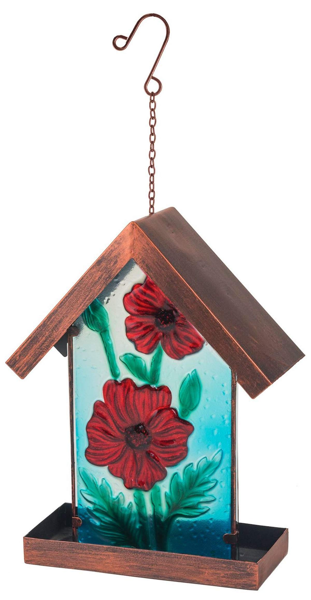 Bronze bird feeding station table seed or peanut Decorative Garden Ornament Garden mile/® Unique Vintage Style Cast Iron Heavy Duty Hanging Bird Feeder Or Bath