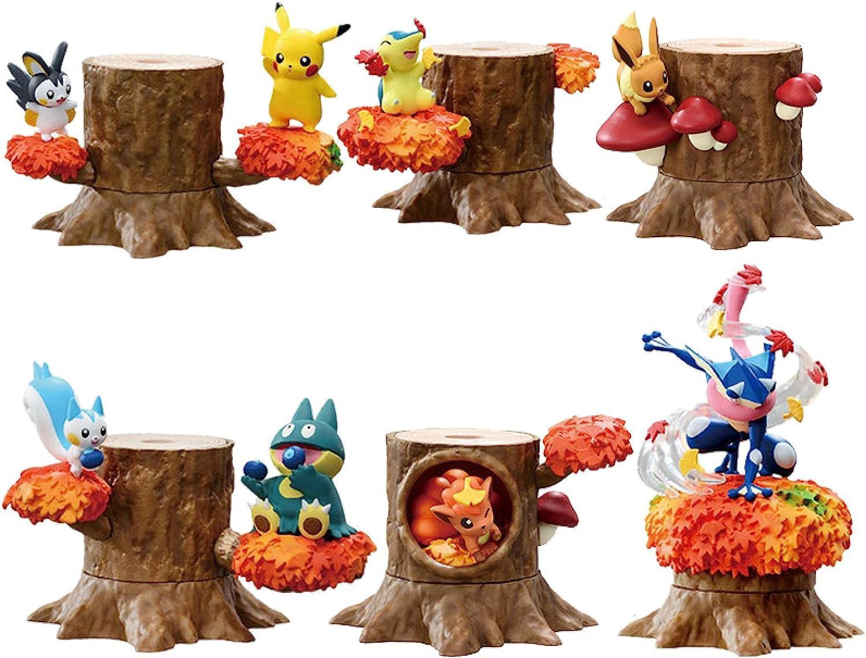 6Pcs Easy-to-use Pokemon Action Figures Blind Box Cyndaq Pikachu Albuquerque Mall Emolga Toys