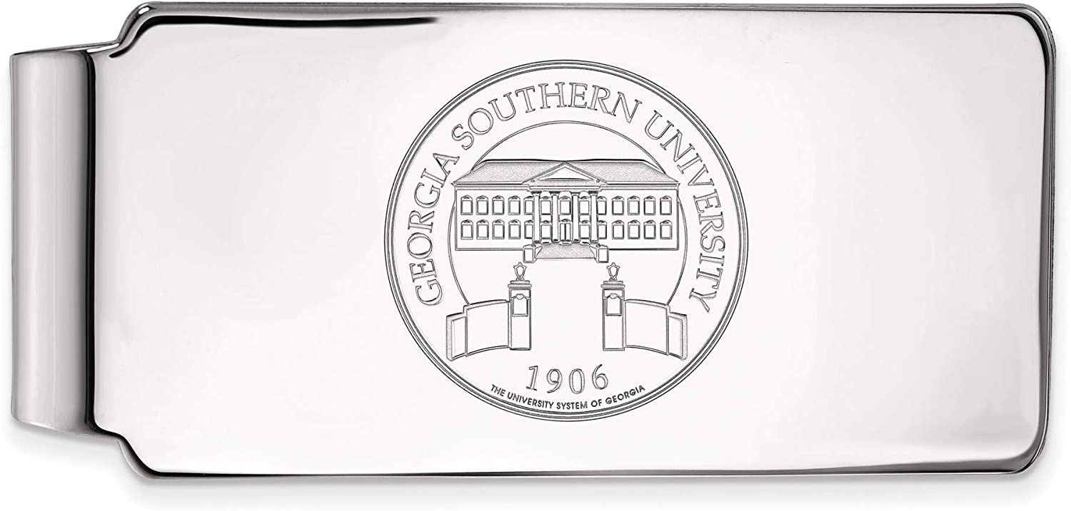 Bonyak Jewelry Sterling S. Rhp LogoArt Georgia Southern University Crest Money Clip in Sterling Silver