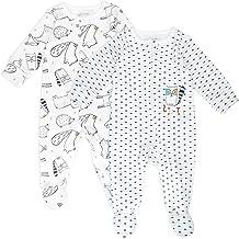 Mac & Moon 2-Pack Organic Cotton Sleep & Play in Baby Boy Prints