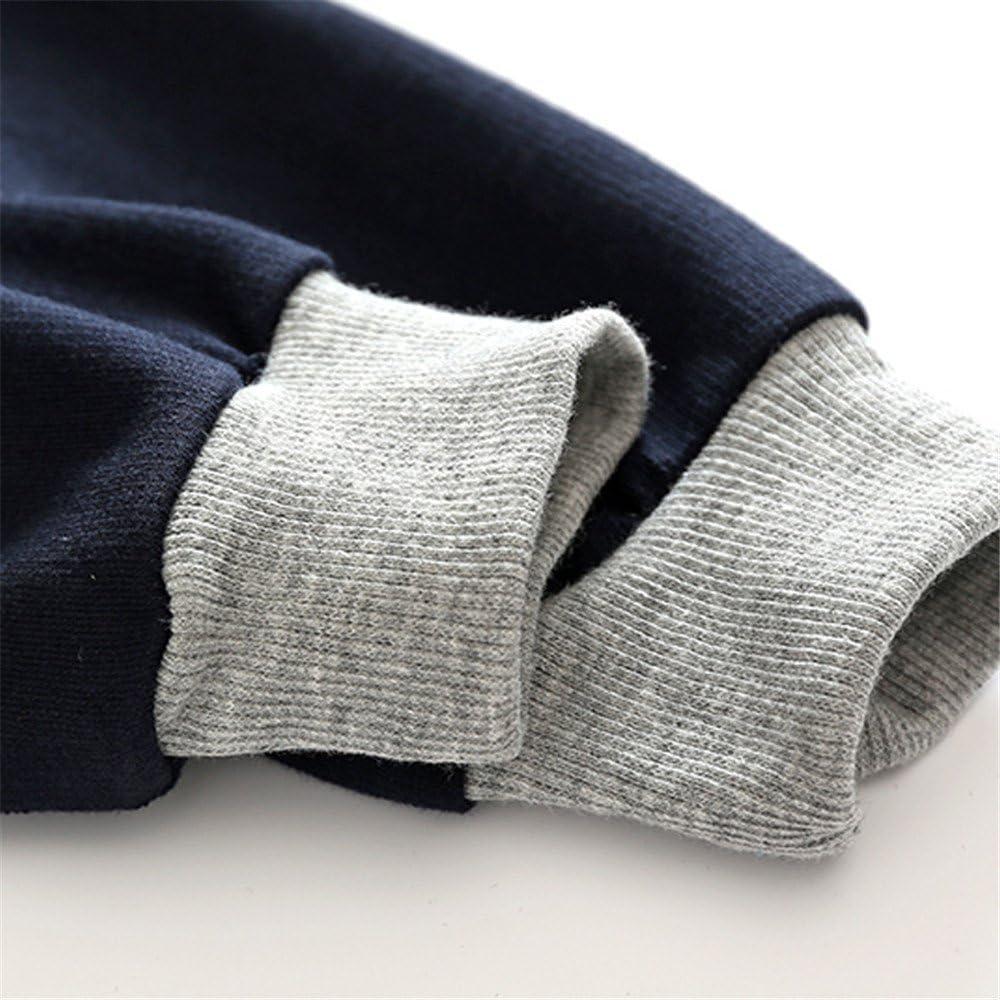 HighDream Kids Toddler Boys Spring Cotton Varsity Baseball Jacket Zipper Outerwear Coat