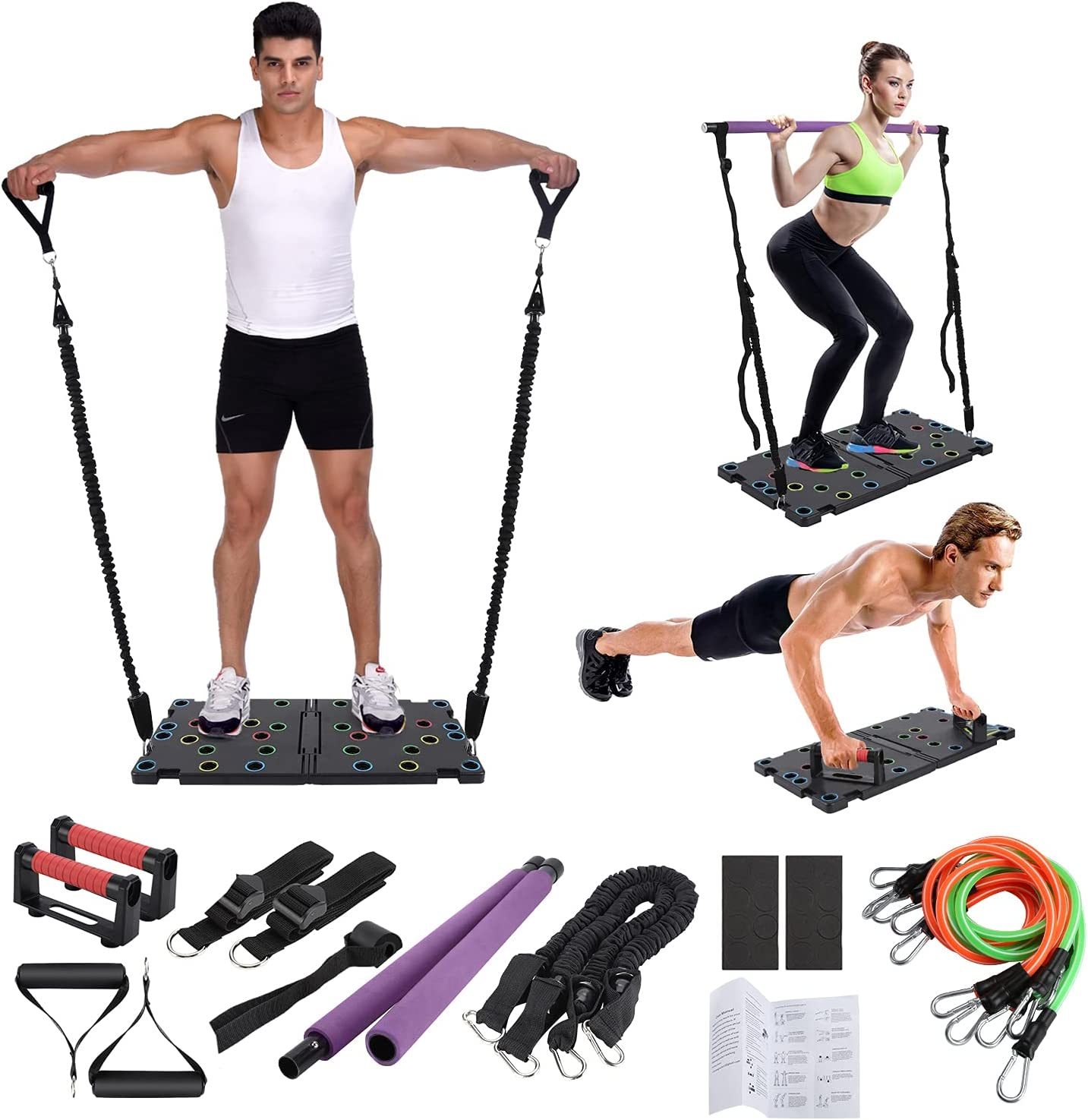 O-Conn Portable Home Gym with Push-up Stand $48 Coupon