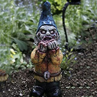 JOMYO Trädgårdstome, trädgårdsljus soldekoration, mini gnome träd skulptur, unik skrivbordsprydnad, fruktansvärd mini zomb...