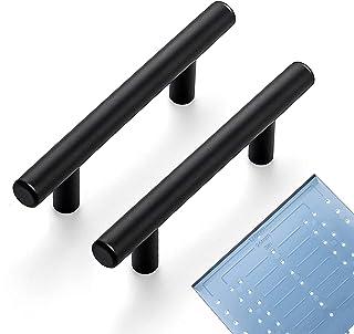 "Ravinte 30 Pack | 5'' Cabinet Pulls Matte Black Stainless Steel Kitchen Drawer Pulls Cabinet Handles 5""Length, 3"" Hole Center"