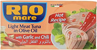 Rio Mare Light Meat Tuna in Olive Oil with Garlic & Chili 160gx2
